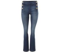 Flared-Jeans blau