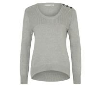 Grobstrick-Pullover grau