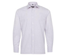 Langarm Hemd Modern FIT lila / weiß