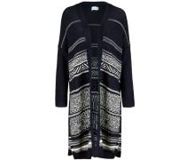 Strickmantel 'kimono Sleeve' blau / weiß