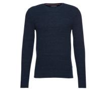 Pullover in Waben-Strick dunkelblau