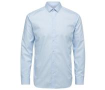 Schmal geschnittenes Langarmhemd hellblau