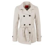 Jacke im Trenchcoat-Style beige