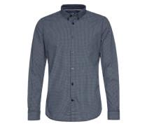 Karo-Hemd blau