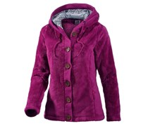 Fleece Kapuzen-Fleecejacke Damen lila