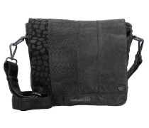 'Untamed Small' Messenger Bag Leder 28 cm schwarz
