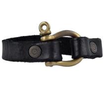 Bracciali Armband Leder 22 cm schwarz