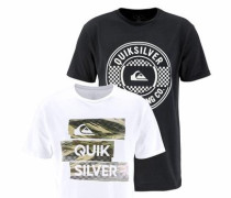 T-Shirt 'flaxton Pack Chilly Camo' schwarz / weiß