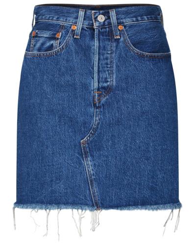 Rock 'HR Decon Iconic BF Skirt' blue denim