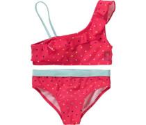 Kinder Bikini türkis / gelb / pink / schwarz / naturweiß