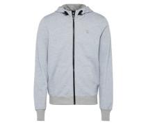 Sweatjacke 'Core hooded zip sw l/s' graumeliert