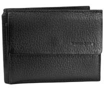 Sawadee Klammergeldbörse Leder 11 cm schwarz