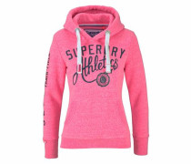 Sweater 'track & Field Hood' dunkelblau / pinkmeliert