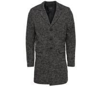 Klassischer Mantel schwarzmeliert