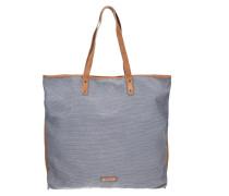 Deborah Shopper Tasche 40 cm marine / taubenblau