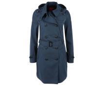 Leichter Mantel im Trenchcoat-Look marine