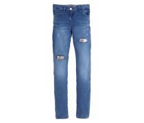 Suri: Stretch-Jeans mit Pailletten blue denim