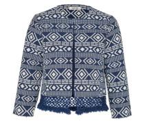 Jacket 'Rania' blau / weiß