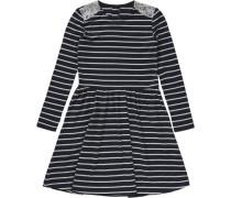 Jerseykleid blau / weiß