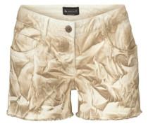 Shorts »Mit Druck und ausgefranstem Saum« beige
