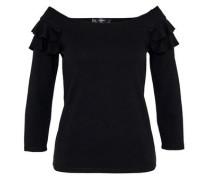 Off-Shoulder-Shirt mit Rüschen schwarz