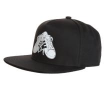Cap mit Sneaker-Applikation schwarz