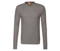 Sweatshirt aus Struktur-Stoff 'Wipe' hellgrau