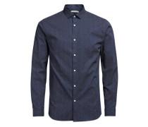 Langarmhemd blau / weiß