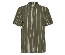 Viskose-Kurzarmhemd grün