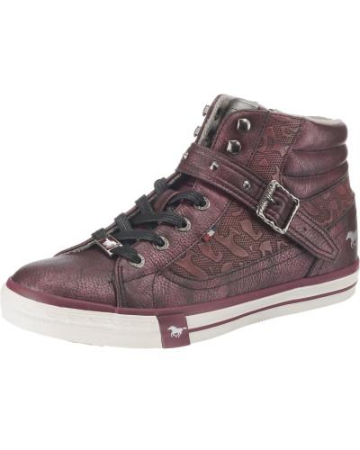 Sneaker bordeaux / silber