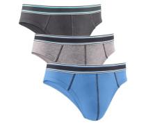 Slips hellblau / grau / schwarz