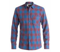 Langarm-Hemd »Motherfly Flannel« blau / rot