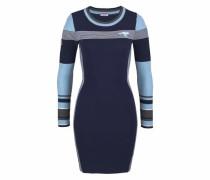 Strickkleid marine / hellblau / dunkelgrau / weiß