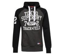 Sweatshirt 'Trackster Baseball Hood' grau / schwarz