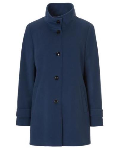 Damen-Wollmantel der modische Begleiter dunkelblau