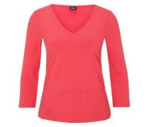 V-Neck-Shirt mit Schößchen pink