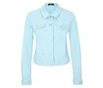 Jeansjacke mit Schmucksteinen blau