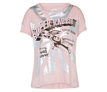 T-Shirt 'Bugsbunny' rosa / schwarz