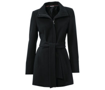 'Veste en laine' Mantel schwarz