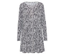 Langärmliges Minikleid schwarz / weiß