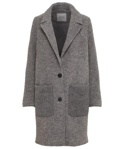 Mantel 'Knitted wool' graumeliert