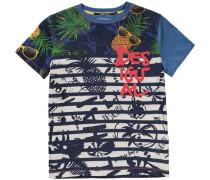 Baby Shirt für Jungen blau / grenadine / offwhite