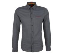 'Slim' Baumwollhemd mit Muster