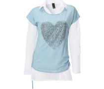 Shirt-Zweiteiler blau