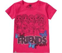T-Shirt 'friends' für Mädchen pink