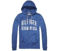 Sweatshirt 'thdm Basic RIB HD Zipthru L/S 13' blau