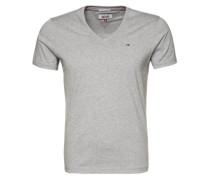 T-Shirt mit V-Ausschnitt 'Original' grau