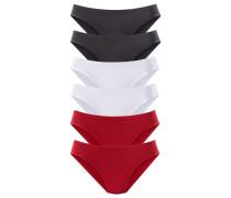 Jazzpants (6 Stck.) rot / schwarz / weiß