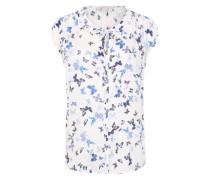 Bluse mit Schmetterlings-Design blau / offwhite
