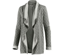 Sweatjacke Midnight Bloom stone / weiß
